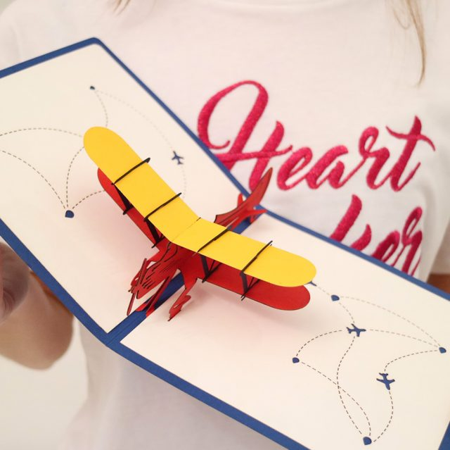 Super Papercraft Pop-Up 3D Greeting Card: Airplane – Papercraft Pop-Up  AQ07