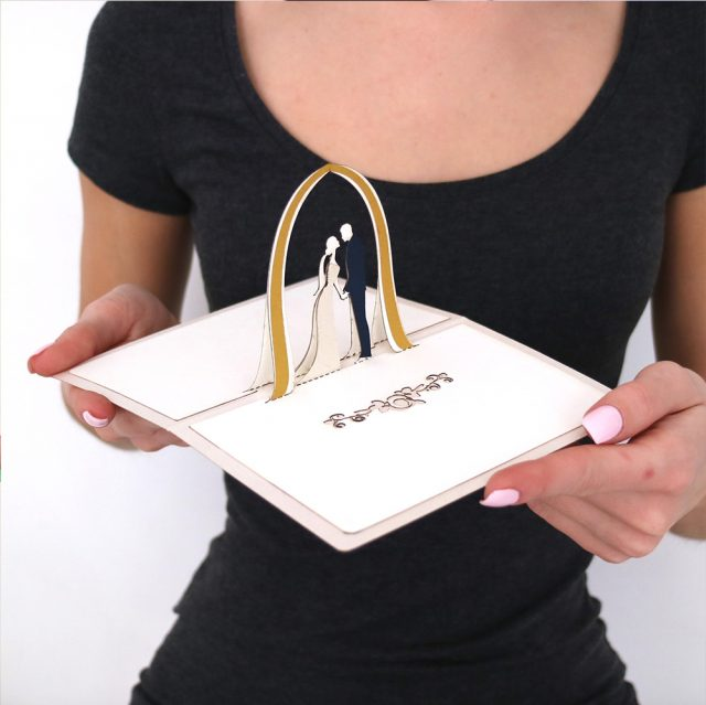 Wedding Invitation 3D Greeting Card