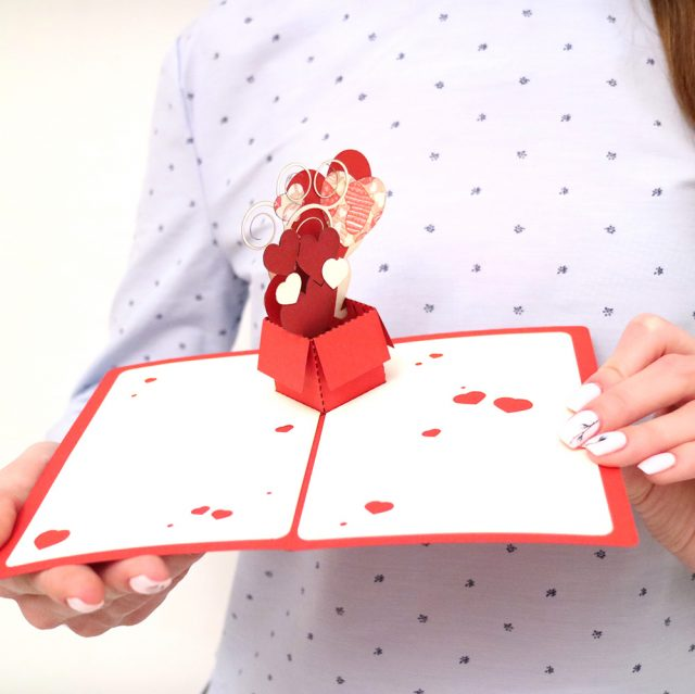 Love – greeting card, handmade