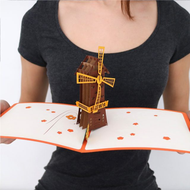 Windmill 3D Greeting Card