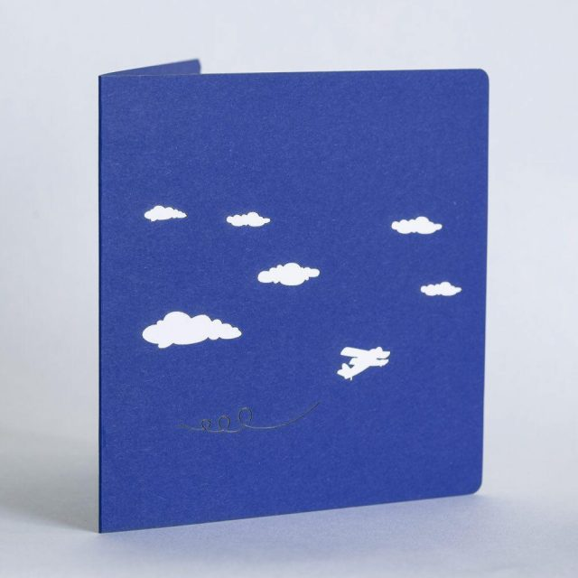 Airplane 3D Greeting Card