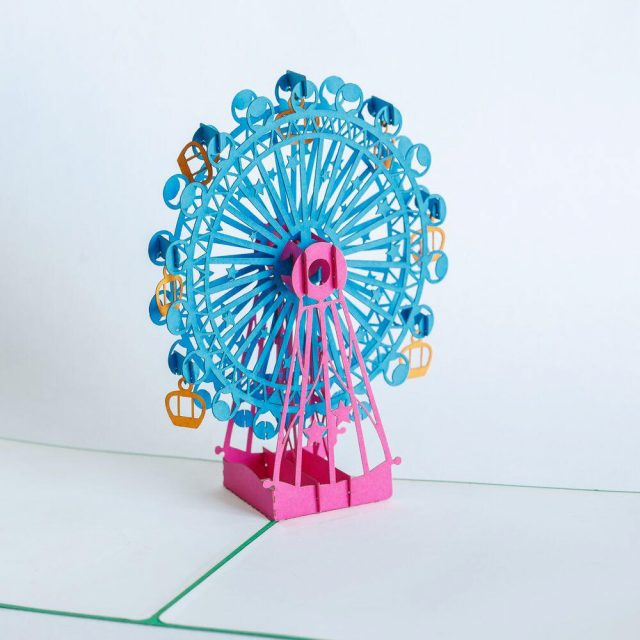 Ferris wheel 3D Greeting Card