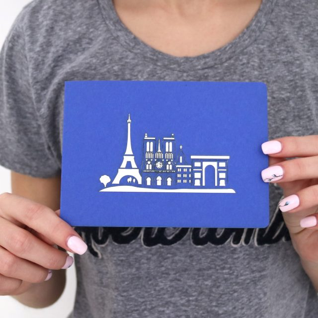 Eiffel Tower, Paris 3D Greeting Card