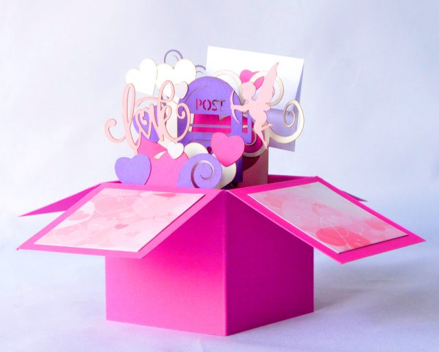 LOVE U 3D Romantic Greeting Box