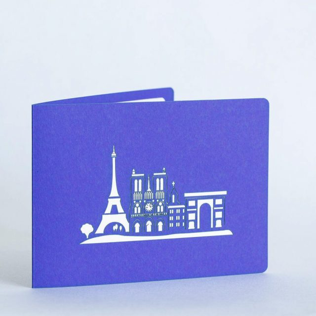 Eiffel Tower, Paris 3D Greeting Card