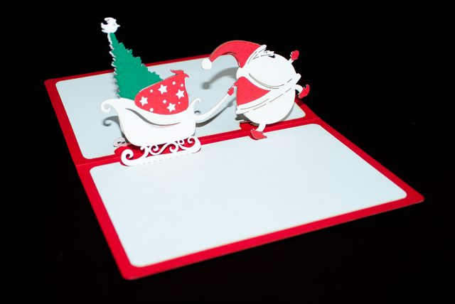 Christmas Santa 3D Greeting Card