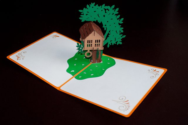 Treehouse 3D Greeting Card