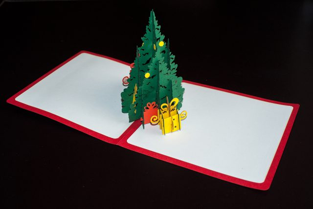Christmas Tree 3D Greeting Card