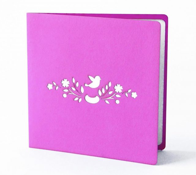 Pink flowers 3D Greeting Card