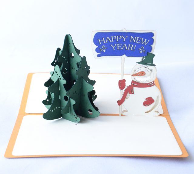 Happy New Year 3D Greeting Card