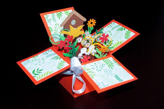 3d greeting cards in dubai from say art studio orange 3d greeting box m4hsunfo
