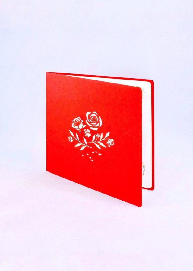 Rosebush Romantic 3D Greeting Card
