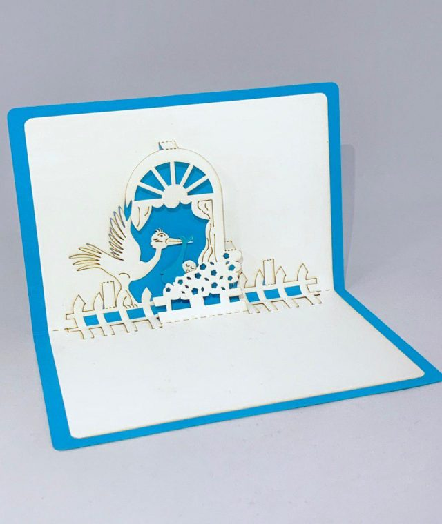 Newborn 3D Greeting Card for Boy
