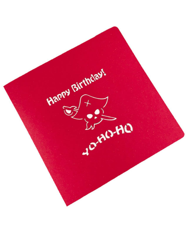 Pirates Ship 3D Birthday Card