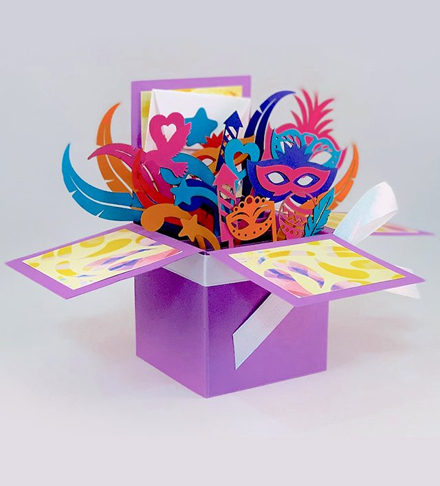 3D Carnival Greeting Box