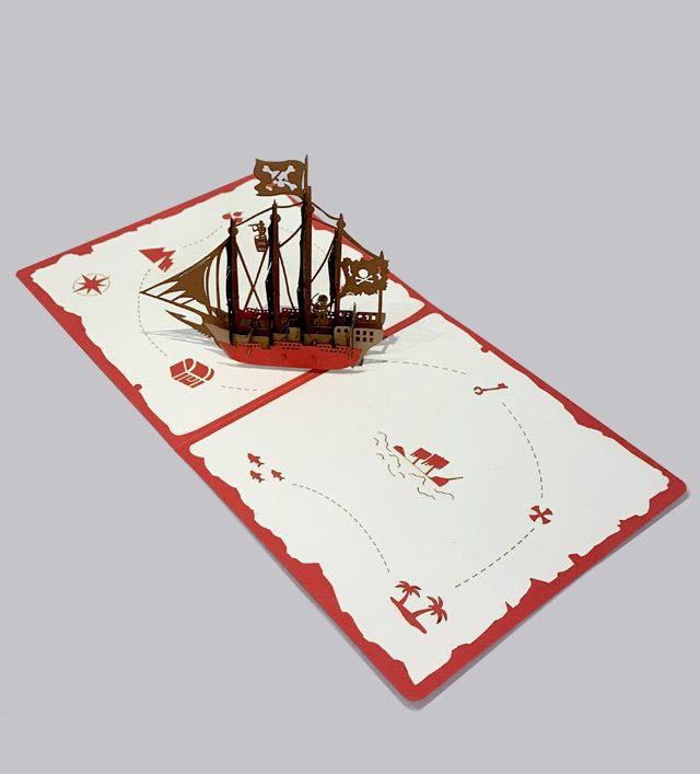 Pirates 3D Birthday Card