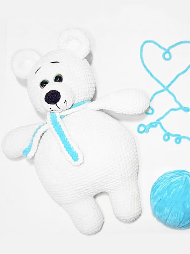 Polar Bear Knitted Toy