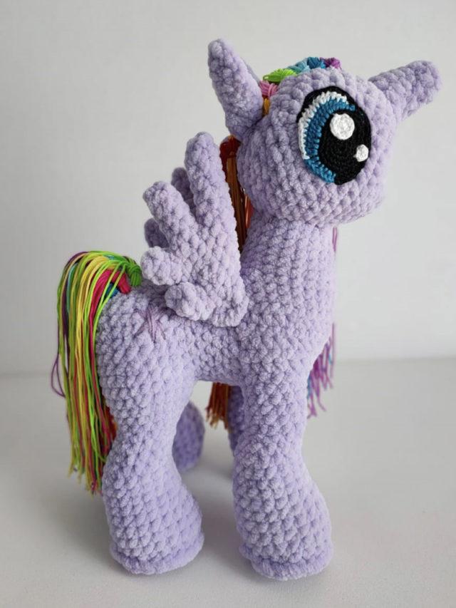 Plush Unicorn Knitted Toy