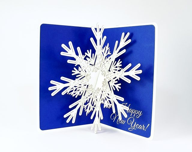 Snowflake Happy New Year Greeting Card