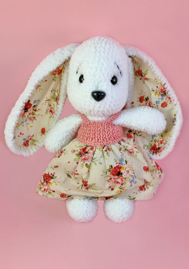 White Bunny Knitted Toy