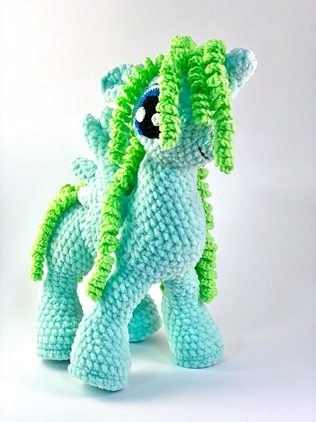 Green Unicorn Knitted Toy