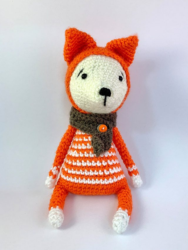 Small Red Fox Knitted Toy