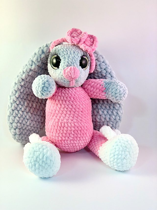 Pink Bunny Knitted Toy
