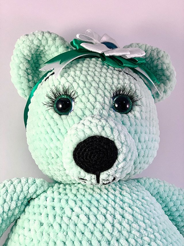 Green Bear Knitted Toy