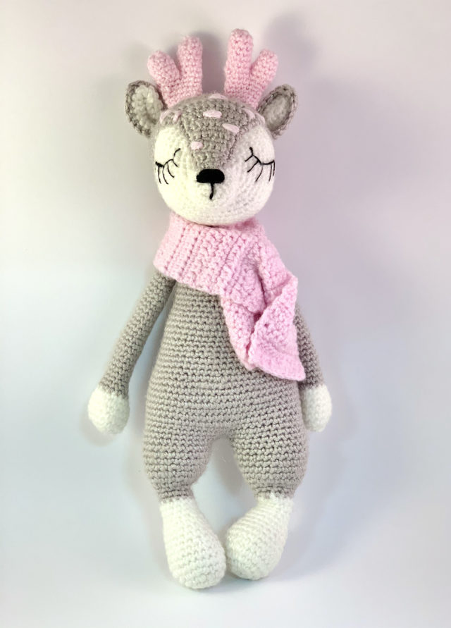 Grey Deer Knitted Toy