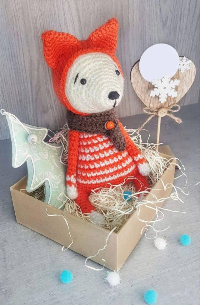 Red Fox Knitted Toy