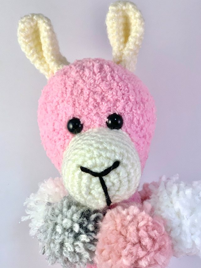 Pink Llama Knitted Toy