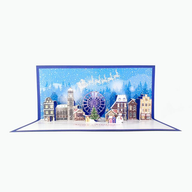 Christmas Town Greeting Card
