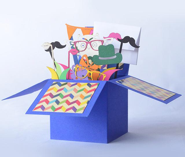 Blue 3D Greeting Box