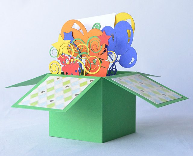 Happy Birthday Green 3D Greeting Box