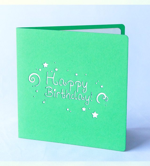 Happy Birthday 3D Greeting Card with Pop-Up Gift