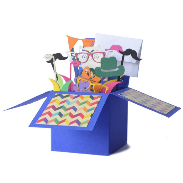 Blue 3D Greeting Box