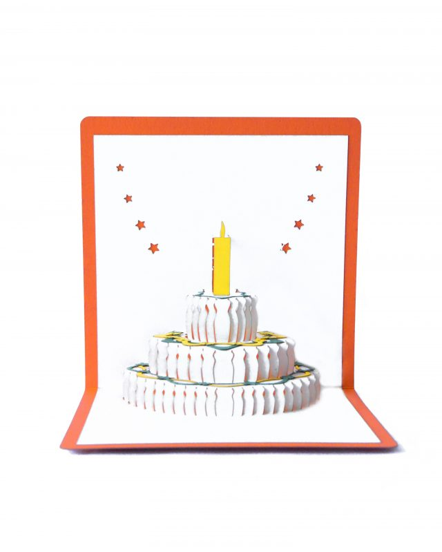 Happy Birthday 3D Greeting Card with Pop-Up Cake