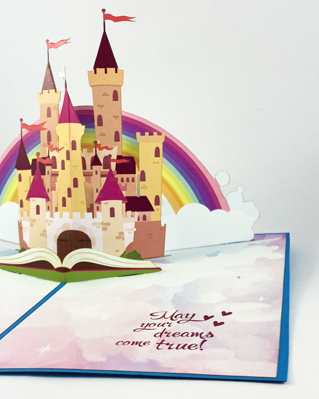 Encouraging Greeting Card with Magical Castle